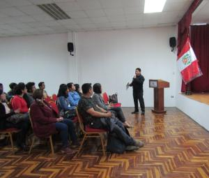 Conferencia en la Universidad Simon Bolivar, Lima
